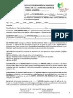 Formato de Contrato de Corretaje Inmobiliaria
