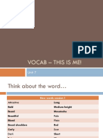 Vocab - This is Me!
