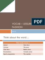 Vocab - Leisure and Fashion