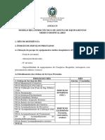 Anexo IV Modelo de Relatório