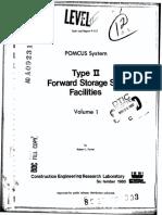 POMCUS System - Type II Forward Storage Site Facilities - Volume 1