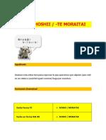 n3 Leccion 9 Te Hoshii Te Moraitai