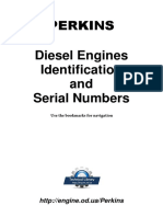 PERKINS ENGINE Identification Serial Number