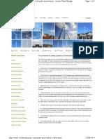 Small Wind Turbine Safety