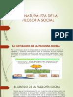 La Naturaleza de La Filosofia Social