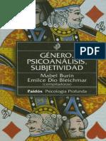 Burin Mabel - Genero Psicoanalisis Subjetividad 86ccd3fac86a