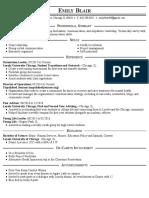 emily blair resume 2 2017