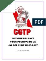 Informe Balance y Perspectivas de La JNL Del 19 de Julio 2017