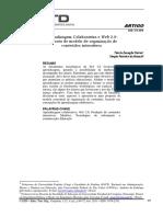 Aprendizagem Colaborativa e Web 2.0 Proposta de Modelo de Organização de Conteúdos Interativos