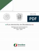 Plan Municipal de Desarrollo Municipio de  Reynosa 2013 2016