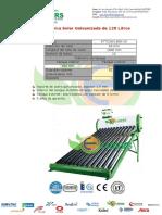 Terma Solar Liders de 120 Litros