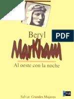 Beryl Markham - Al Oeste Con La Noche