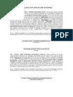 Declaracion Solteria Josefina
