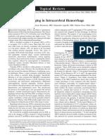 Neuroimaging ICH