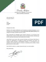 Danilo Medina lamenta muerte de Juany Uribe; resalta sus cualidades humanas y cívicas