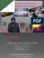 Episodios de Contaminación Atmosférica en México y El