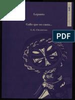 G. K. Chesterton - Lepanto