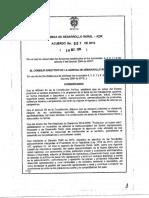 Acuerdo 007 de 2016 Proyectos Integrales