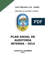 Plan Anual de Auditoria