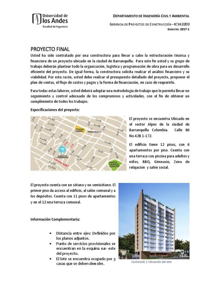 Proyecto Final Gerencia 2017 1 Presupuesto Ingeniería Civil