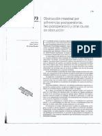 Capitulo 73 Obstruccion Intestinal Por Adherencias Postoperatorias, Ileo Post Operatorio y Otras Causas de Obstruccion