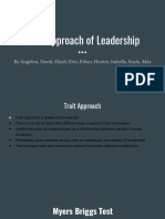trait approach of leadership