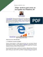 Unidade I - Microsoft Edge Motivos Para Usar Ou Fugir Do Navegador Do Windows 10