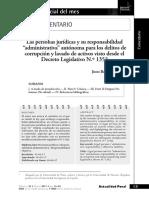 Las Personas Juridicas y Su Responsabilidad Administrativa Autonoma
