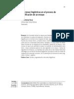 Elecciones Lingüísticas en El Proceso de Planificación de Un Ensayo