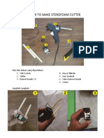 How to Make Sterofoam Cutter