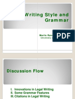 7 - Writing Style and Grammar
