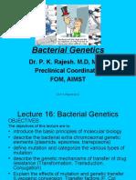 L16 Bacterial Genetics