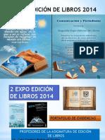 Portfolio de Evidencias de La Expo Edición de Libros 2014