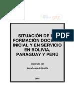 Situacion Formacion Docente Bolivia Paraguay Peru
