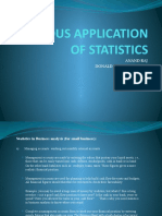 Application of Statistic