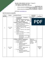 Cronograma de Actividades Elementos de Auditoria II Lunes