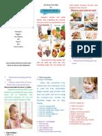 341145216 Leaflet Makanan Sehat Untuk Ibu Hamil Bayi Dan Balita