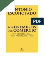 Descargar Los Enemigos Del Comercio Pack by Antonio Escohotado Libro