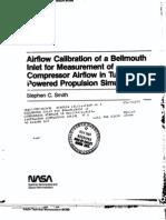NASA Bellmouth Calibration