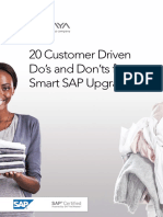 20 Customer Driven Do and Donts for Smart SAP Upgrades 05