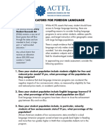need for language program indicators
