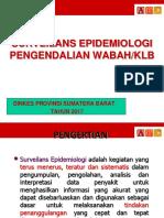 Surveilans Dan Penanggulangan KLB Wabah
