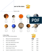 Flying From the Sun to the Stars Worksheet