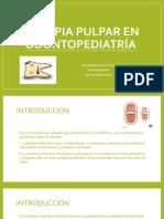 Terapia Pulpar en Odontopediatría