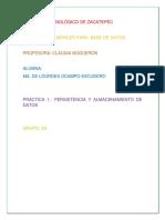 PERSISTENCIA Y ALMACENAMIENTO DE DATOS