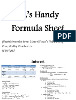 Exam FM Formula