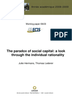 The Paradox of Social Capital