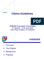 Guidelines on Claims and Labelling