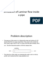 Simulation of Lamellar Flow Inside a Pipe