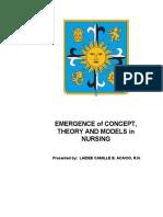 100884442 Theoretical Foundations of Nursing Practice